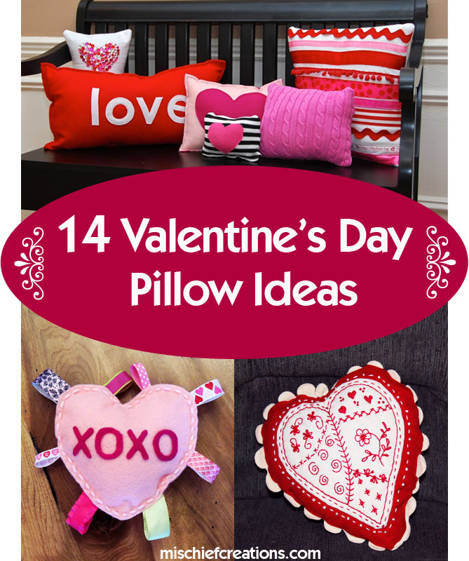14 Valentine's-Day-Pillows Ideas