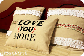 How can I love you more Valentine's Day Pillow Idea