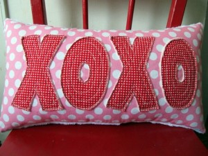 Kiss Hug Kiss Hug  Valentine's Day Pillow Idea