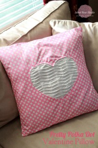 Pretty in pink polkadots Valentine's Day Pillow Idea