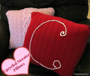 Sweater love Valentine's Day Pillow Idea