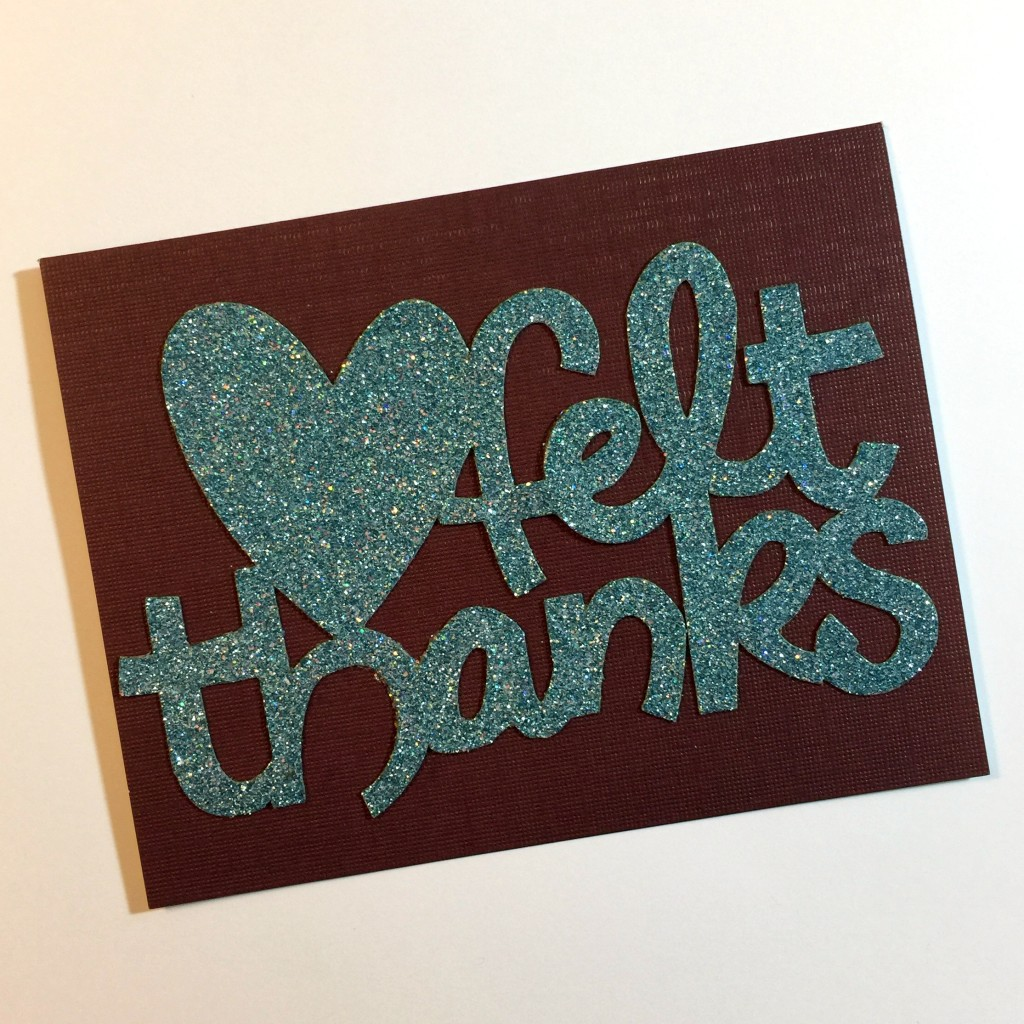 Glittery Homemade Thank You Card